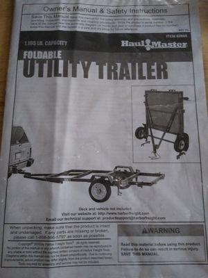 Brand New foldable 4x8 utility trailer for Sale in Spring Valley, CA