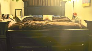 King Bed Frame, Black, from Jerome's for Sale in San Diego, CA