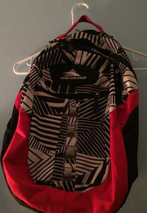 High Sierra Red Tiger Strip adult/ teen backpack men, women for Sale in Annandale, VA