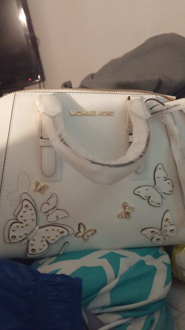 Brand new with tags Michael Kors butterfly messenger bag purse