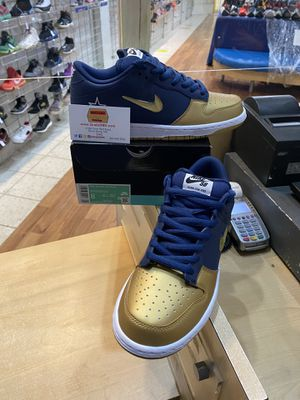 Supreme X Dunk SB Low QS Metallic Gold Size 8 for Sale in Silver Spring, MD