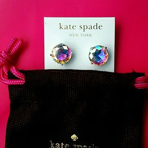 New! Authentic ♠️ KATE SPADE ♠️ Sterling Silver Sold-Out 'Gumdrop' Shimmering Crystal Lg Stud Earrings for Sale in Chillum, MD