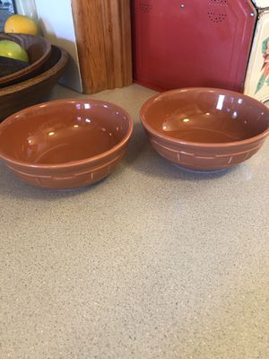 Longaberger Woven Traditions salad/soup bowls for Sale in Molalla, OR