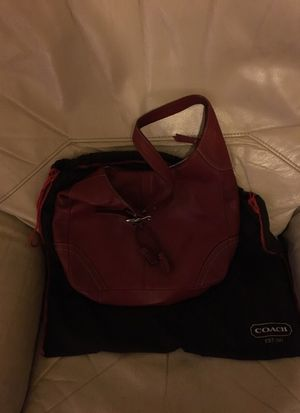 Red leather coach bag for Sale in Boston, MA