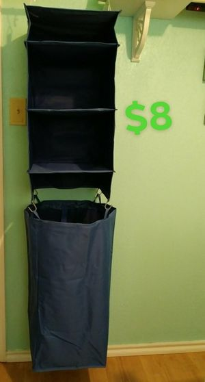 3- Shelf hanging closet organizer $8( new) for Sale in Euless, TX