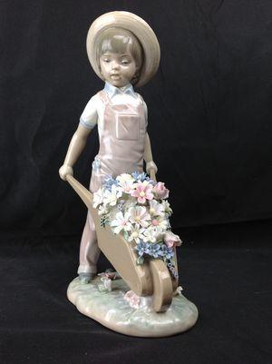 Lladro Wheelbarrow with Flowers Figurine for Sale in Largo, FL