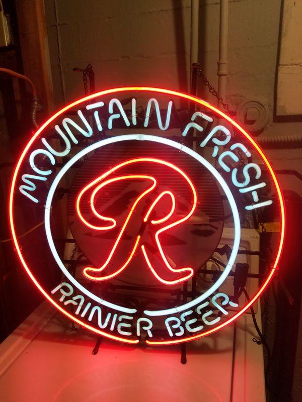 Rainier Beer Neon Sign for Sale in Seattle, WA - OfferUp