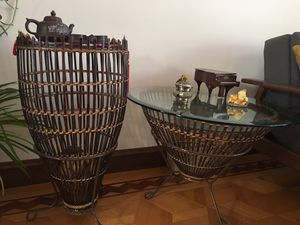Antique bamboo end table set from Thailand for Sale in San Francisco, CA