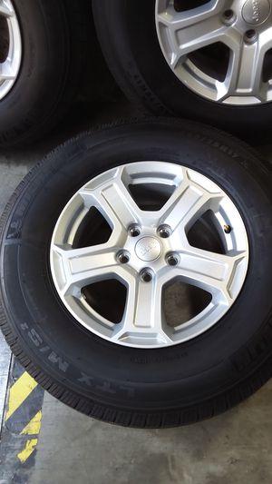 jeep wheels oem 17x7.5 offset 44 5x5 for Sale in San Bernardino, CA