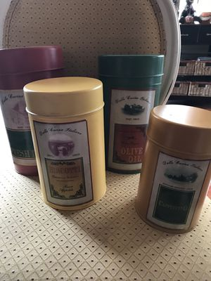 Set of 4 Italian Inspired Nesting Canisters for Sale in Camas, WA