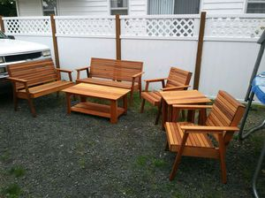 Outdoor Cedar patio furniture for Sale in Milwaukie, OR