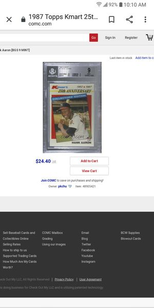 25th Anniversary Kmart Hank Aaron for Sale in Farmington, IL
