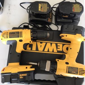 Dewalt Drills w/batteries and case for Sale in Escondido, CA