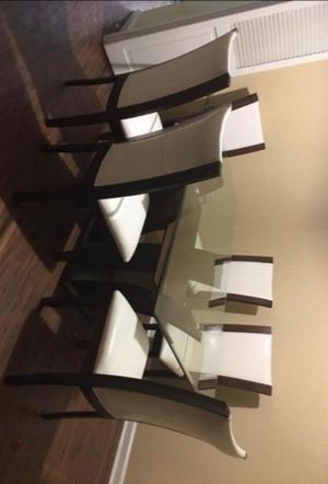🍻39 DOWN🍻Brand New 7-Piece White/Espresso Rectangular Dining Set.[ Table & 6 Side Chairs ] for Sale in Houston, TX