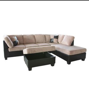 BRAND NEW 3PC Sectional Couch (with Ottoman) for Sale in Rancho Cucamonga, CA