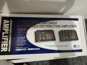 S-video and component audio/video distribution amplifier for Sale in Everett, WA