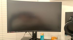 MSI 31.5 inches curve gaming monitor 144hz and 2k for Sale in Irvine, CA