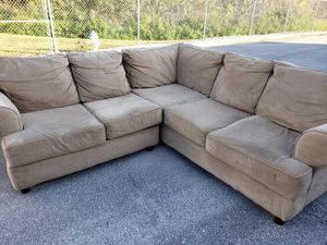 Sueded Microfiber Sofa Couch Sectional for Sale in Cypress Gardens, FL