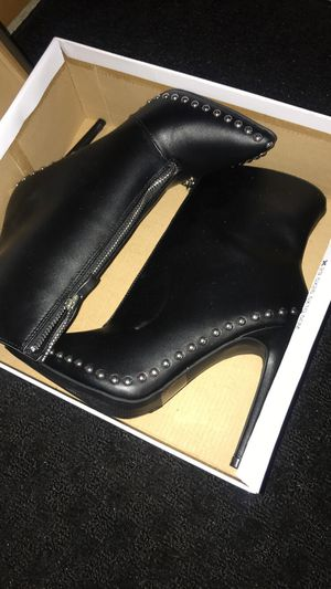 Leather And silver studded bootie.negotiable for Sale in Nashville, TN