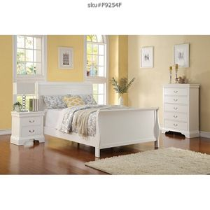 Brand new full or queen wooden bedroom set bed frame chest and 1 nightstand no mattress// Miriams furniture Mon/Sat 11/5 pm 719 *E *9th *Street Hia for Sale in Miami, FL