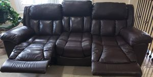 Double Recliner Leather Sofa for Sale in Lakeland, FL