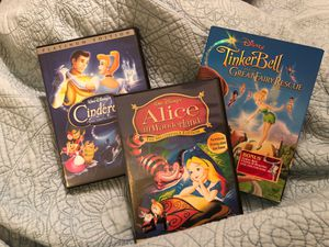 Disney movies - Cinderella, Alice, Tinkerbell for Sale in Houston, TX