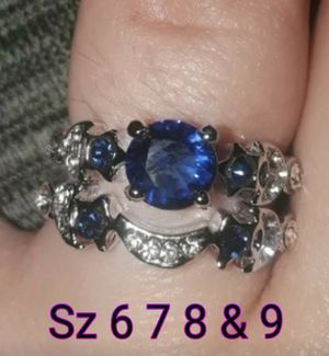 Sterling silver band's. Beautiful sapphire gems. Sz 7 & 8 available for Sale in Glen Burnie, MD