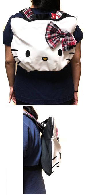 NEW! Hello Kitty faux leather Backpack book Sanrio bag kids bag travel bag shoulder bag back to school bag work bag kids bag for Sale in Carson, CA