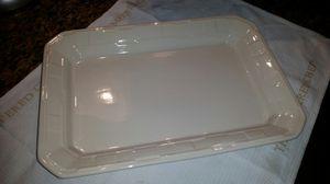 Longaberger Lg Rectangular platter, ivory for Sale in Arlington, TX
