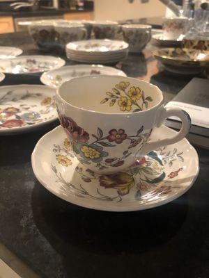 Spode, England tea set. 7 cups, 12 plates for Sale in Arlington, VA