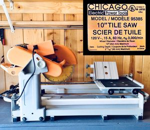 """CHICAGO ELECTRIC 10"""" 2.5HP WET TILE SAW for Sale in Lakeside, AZ"""