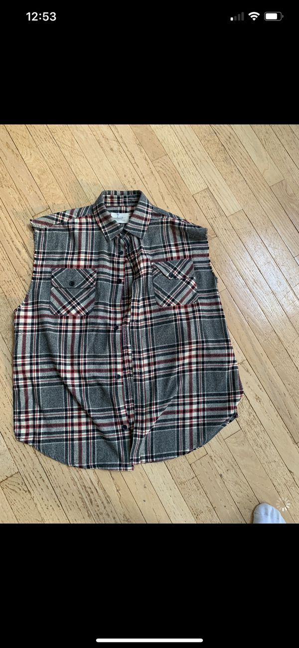 FEAR OF GOD FLANNEL VEST SIZE M