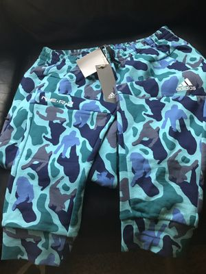 Adidas x N.E.R.D joggers Pharrell Williams pants Blue Camo as Large men's for Sale in Seattle, WA