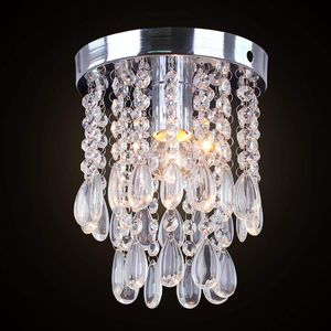 Mini Crystal Chandelier Pendant Lighting Flush Mount Fixture for Hallway, Staircase or Balcony (Silver) for Sale in Henderson, NV