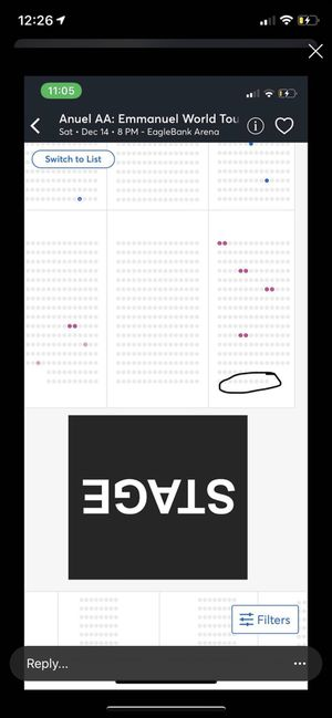 Anuel tickets front row A (2 tickets ) for Sale in Alexandria, VA