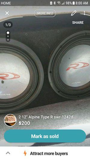 "2 12"" Alpine Type R Subs for Sale in Santa Maria, CA"