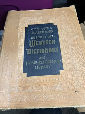 Webster Complete Unabridged Dictionary for Sale in East Gull Lake, MN