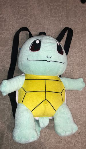 Pokemon Squirtle Plush Backpack for Sale in San Jose, CA