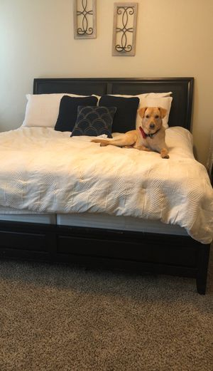 King size BED FRAME(only FRAME) NOT MATTRESS for Sale in Creedmoor, TX