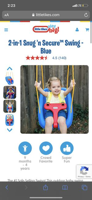 Baby toddler swing for Sale in Miami Gardens, FL