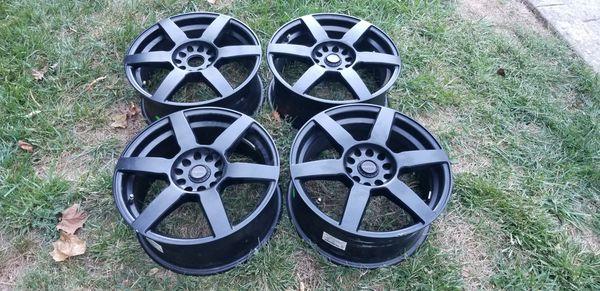 4 17in 5x112 5x120 focal like new wheels rims 17x7.5 5x112 5x120