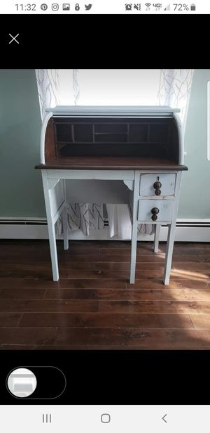 Shanby chic 1920s rolling top desk for Sale in Bridgeton, NJ