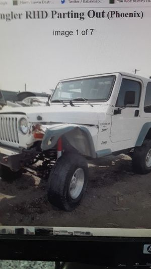 2000 Jeep Wrangler TJ right hand drive parting out for Sale in Phoenix, AZ