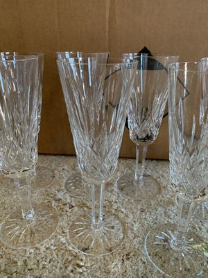 Waterford crystal champagne flutes for Sale in Gig Harbor, WA