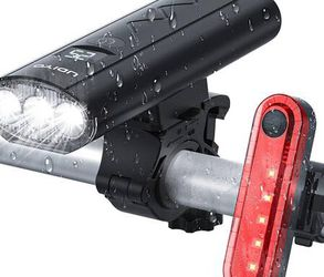 Bike Lights, Super Bright Bike Front Light 1200 Lumen, IPX6 Waterproof, 6 Lighting Modes, Rechargeable 5200mAh with Power Bank Function, Tail Light Fl for Sale in Pomona,  CA