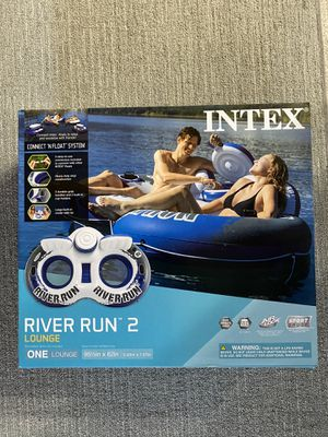intex river run 2 inflatable river tube with ice cooler and cup holders for Sale in El Monte, CA