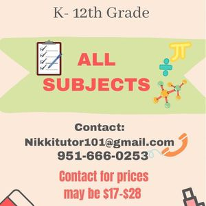 Tutor for Sale in Eastvale, CA