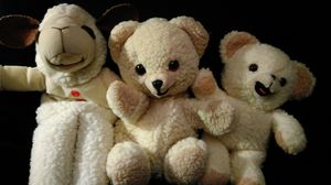 Lambchop and Snuggle Bear puppets with Snuggle Bear stuffed animal for Sale in Philadelphia, PA