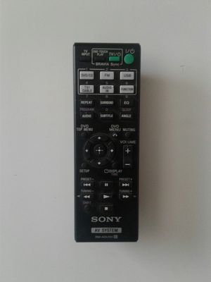 Sony AV System Remote Control (Model: RM-ADU101) for sale for Sale in Los Angeles, CA