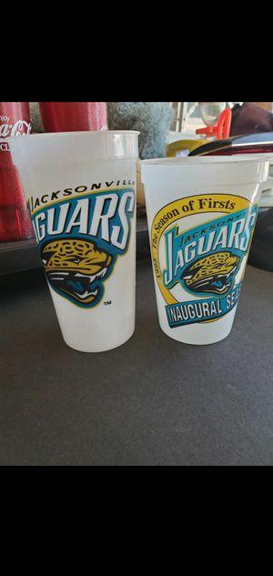 Jacksonville Jaguars plastic glasses Price for both Collectable Inaugural season for Sale in Las Vegas, NV